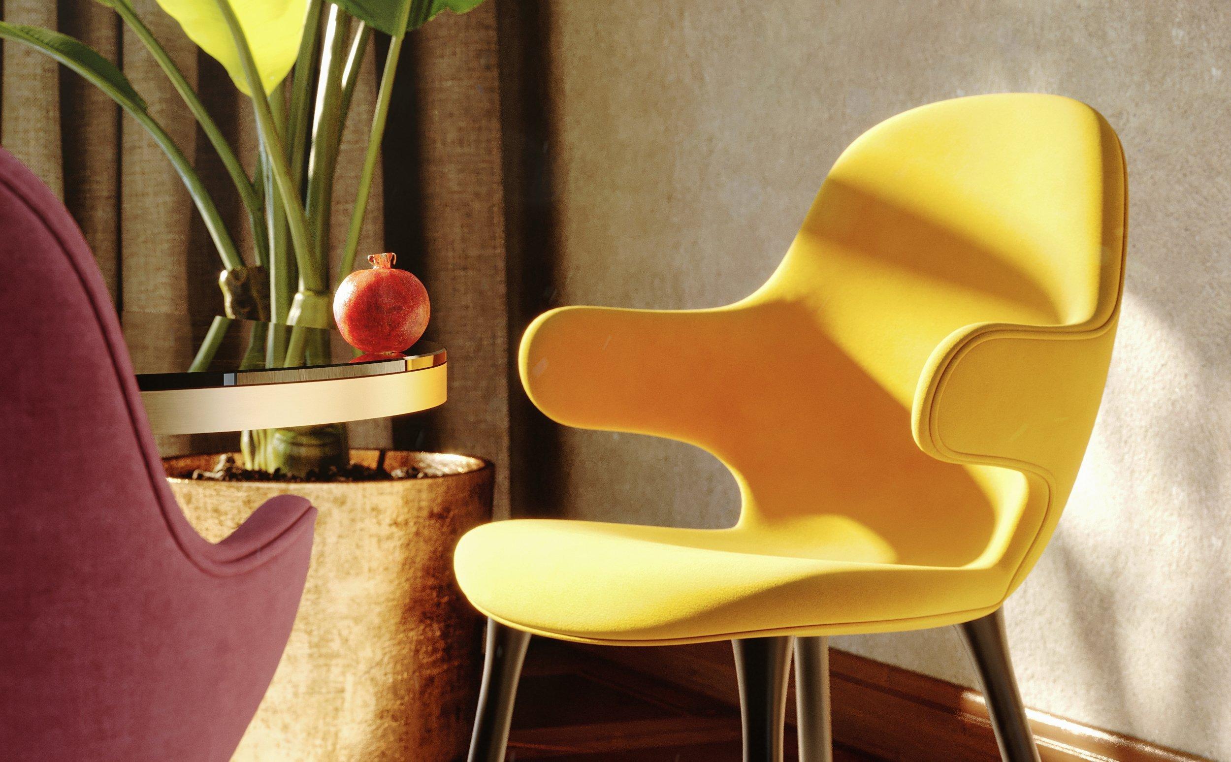interior design rendering 3D sedia