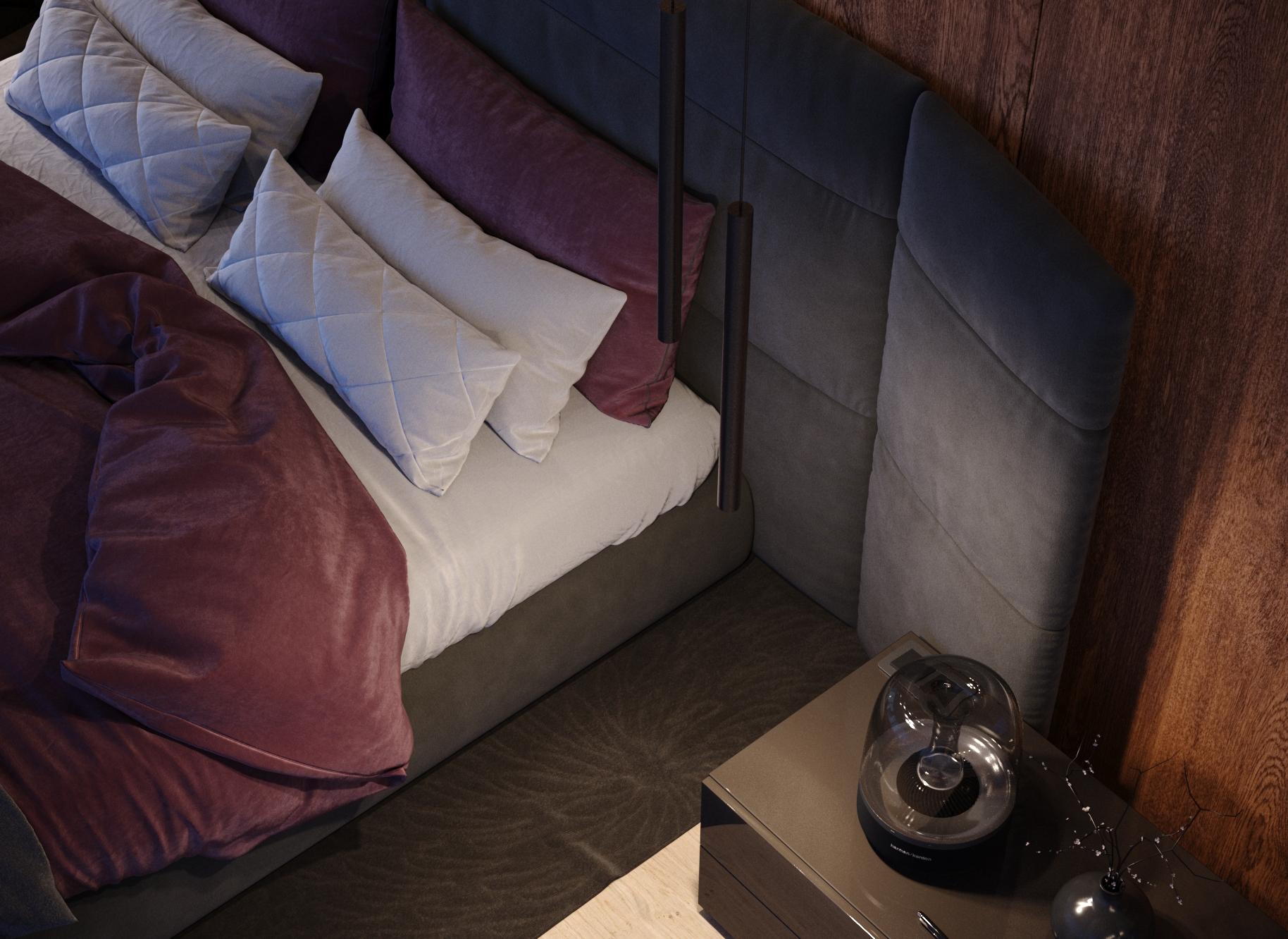 3D rendering bedroom manhattan