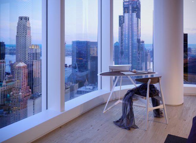Manhattan bedroom skyscraper