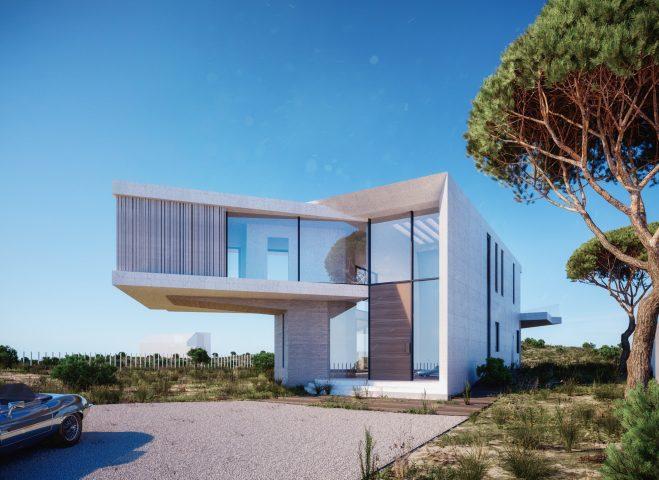 villa-3D-rendering-side-entrance-new-york-montauk