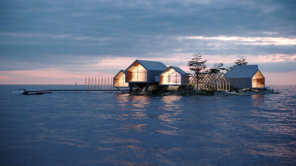 3d rendering new york rat island