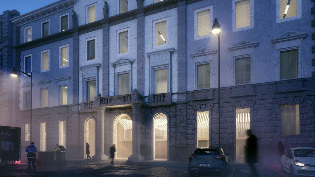 3D rendering historic building renovation