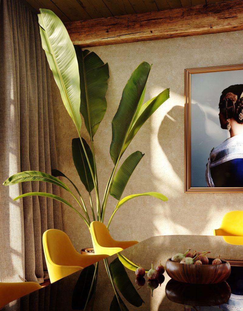 3D rendering dining room