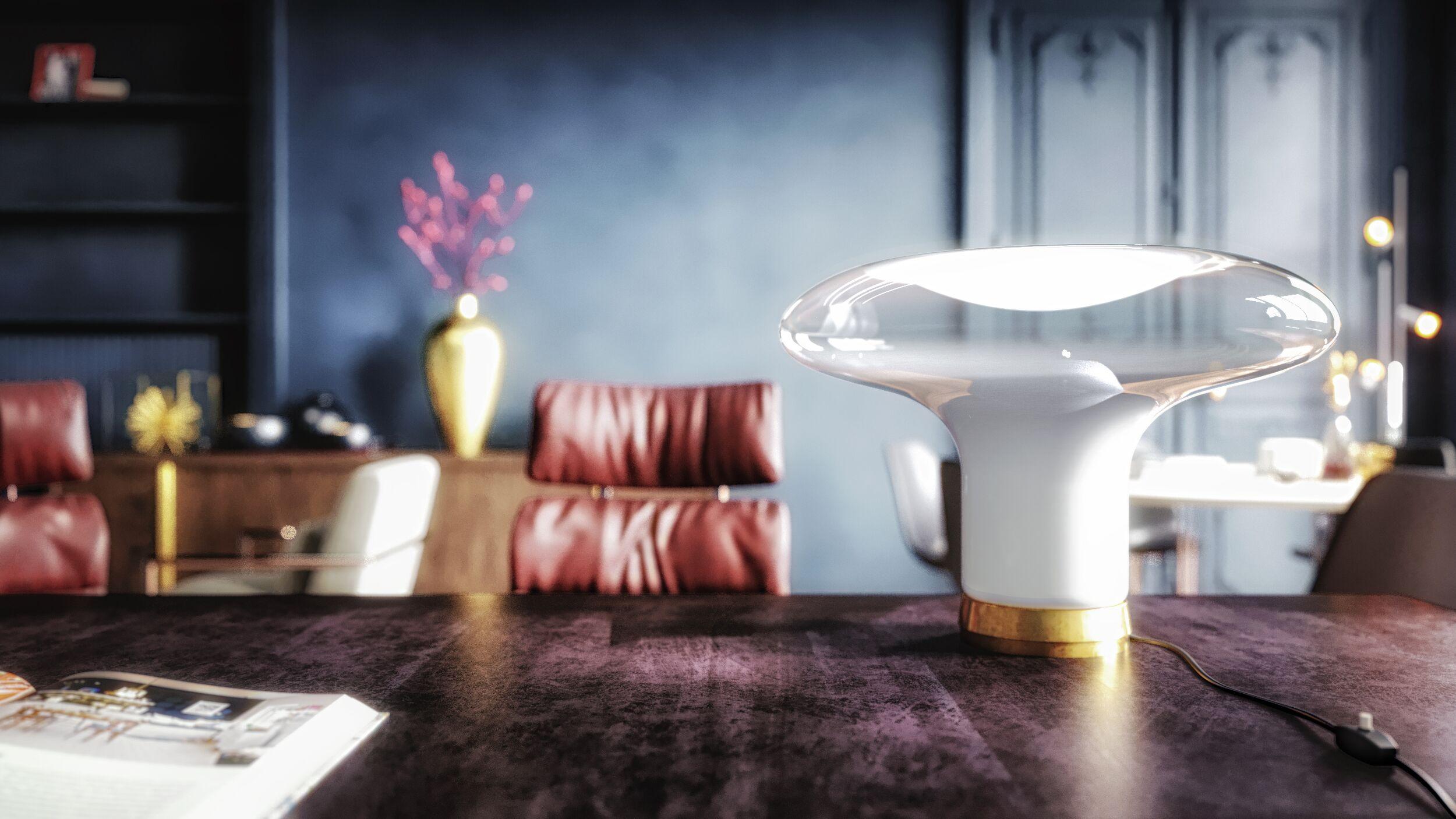 3D rendering modern office artemide lamp
