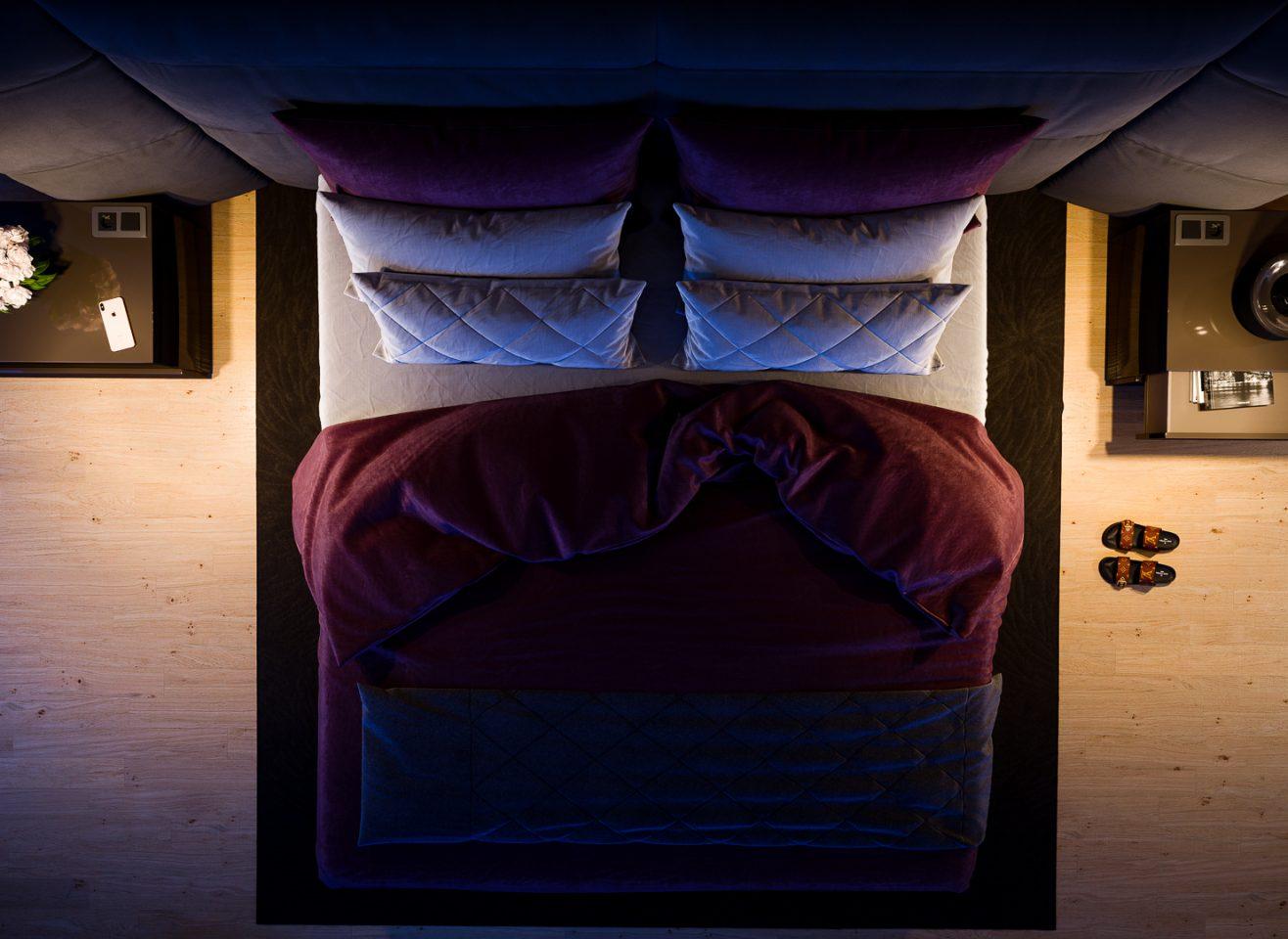 rendering 3D camera da letto design