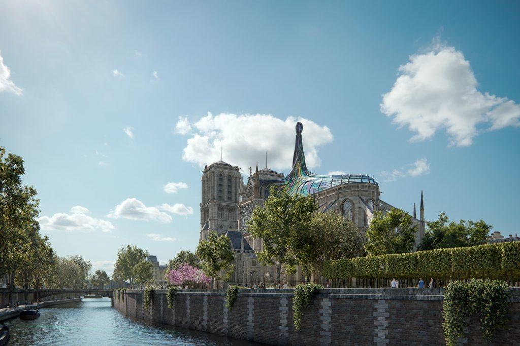 marketing progetto di ricorstruzione Notre Dame