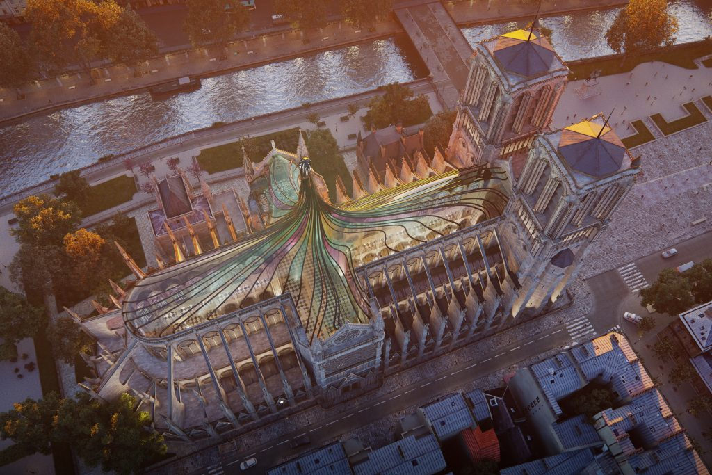 3d render building reconstruction